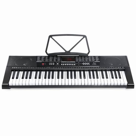 历史新低!Joy JK-63M 电子互动教学 61键电子琴 81.56加元包邮!