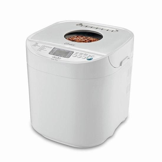 历史新低!Oster CKSTBRTW20 2磅量 快速烹调 自动面包机3.5折 55.27加元包邮!会员专享!