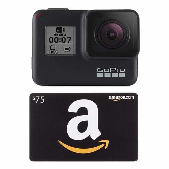 历史新低!新品 GoPro HERO7 Black 4K超高清 防水运动摄像机 429加元包邮!送价值75加元亚马逊礼品卡!会员专享!
