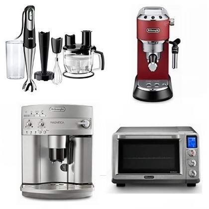 精选 Delonghi、Braun 品牌咖啡机、料理搅拌机、电烤箱、电炸锅、厨师机等5折起!