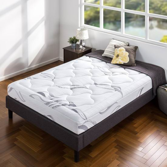 Zinus 8英寸豪华超软绿茶记忆海绵Twin床垫5.3折 196.6加元包邮!