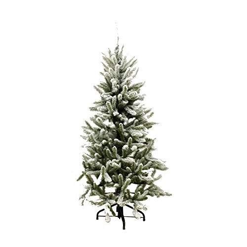 超级白菜!Renaissance 2000 Flocked Alberta 7.5英尺 圣诞云杉树0.6折 50.47加元包邮!