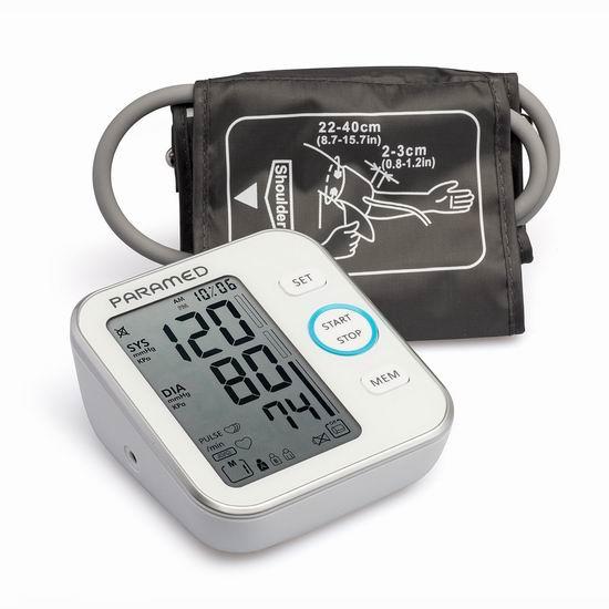 历史新低!Paramed 上臂式电子血压计5.8折 28.95加元!