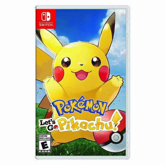 历史新低!《Pokemon Let's Go Pikachu 精灵宝可梦 Let's Go! 皮卡丘》Switch版游戏 49.99加元包邮!