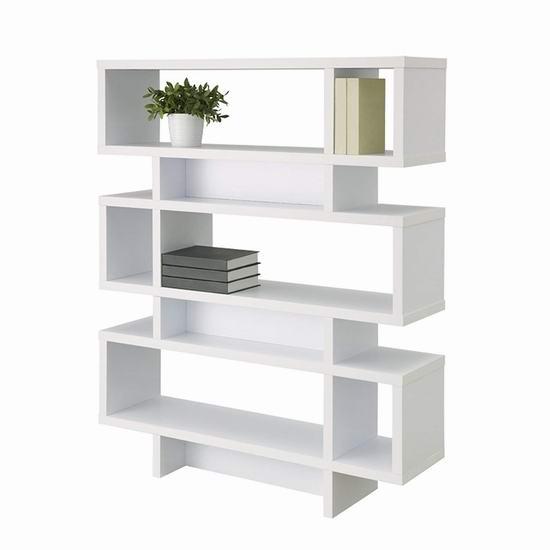 白菜价!历史新低!Furniture of America MAR-051WHT 时尚书架/展示柜2.3折 63.6加元包邮!