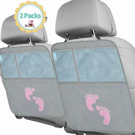 白菜价!历史新低!Glangels 汽车座椅防脏防踢垫2件套2.8折 4.99加元清仓!