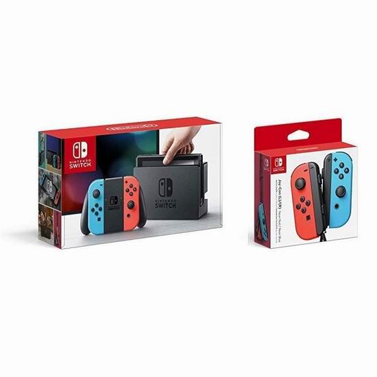 历史新低!Nintendo 任天堂 Switch 时尚红蓝主机+ 遥控手柄套装 429.99加元包邮!与Prime Day同价!