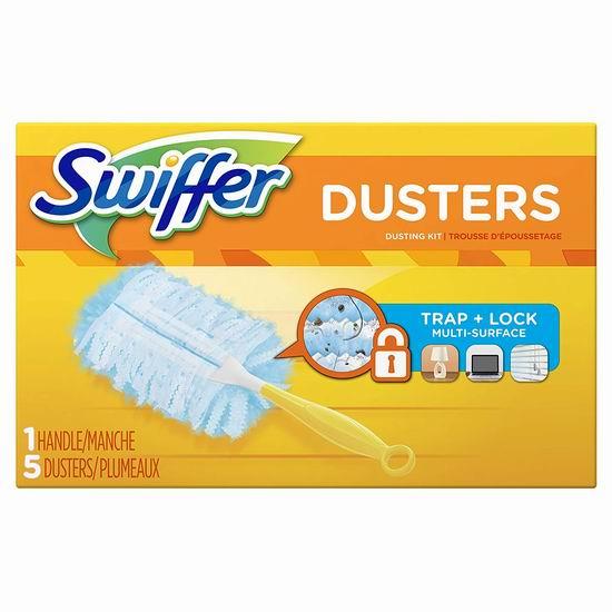 历史新低!Swiffer 180 Dusters 除尘掸套装(含5张除尘布) 3.98加元!