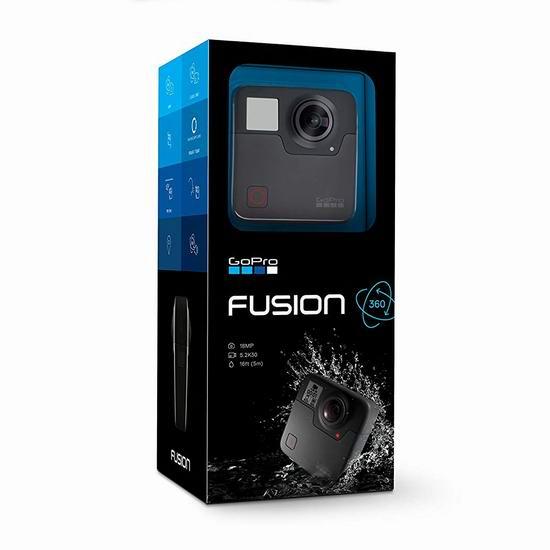 历史新低!GoPro Fusion 360度VR全景运动相机4.9折 439.97加元包邮!