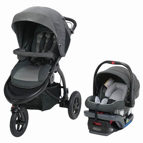 Graco Trail Rider Jogging 婴儿推车+车载提篮 437.99加元,原价 729.99加元,包邮
