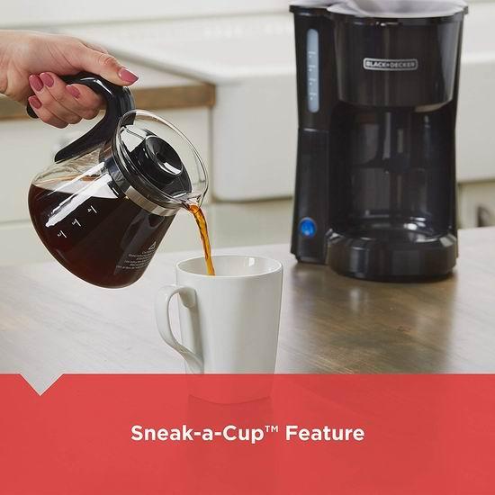 历史新低!BLACK+DECKER CM0700BZ 5杯量 紧凑型咖啡机4.4折 18.98加元!