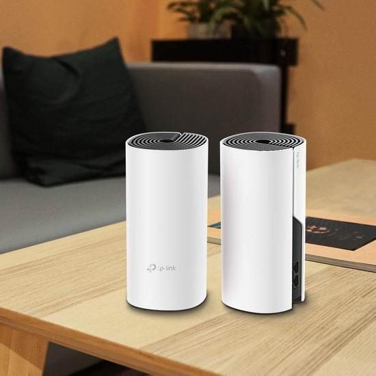 金盒头条:史低价!TP-Link Deco M4 AC1200 Mesh 家庭Wi-Fi网络覆盖系统(2件套)7.1折  119.99加元包邮!