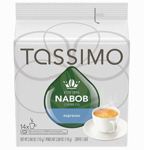 Tassimo Nabob浓缩咖啡 4.73加元热卖!4种口味可选!