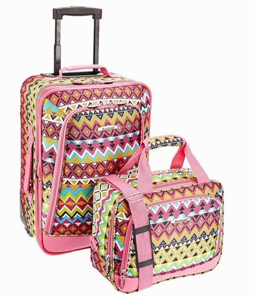 Rockland 印花行李箱 2件套 45加元,原价 93.14加元,包邮