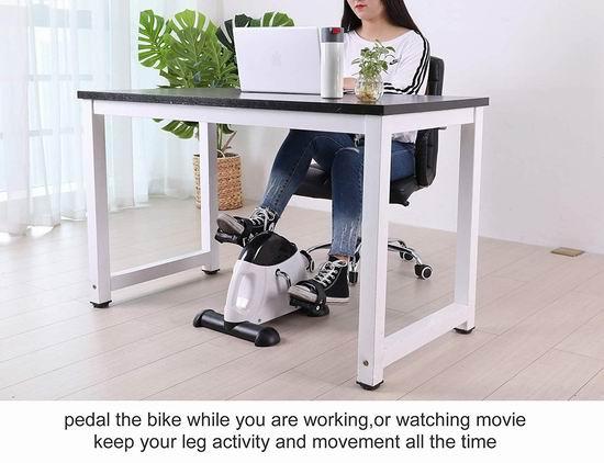 TODO 手脚两用 迷你自行车健身机6.2折 54.9加元限量特卖并包邮!工作学习健身两不误!2色可选!