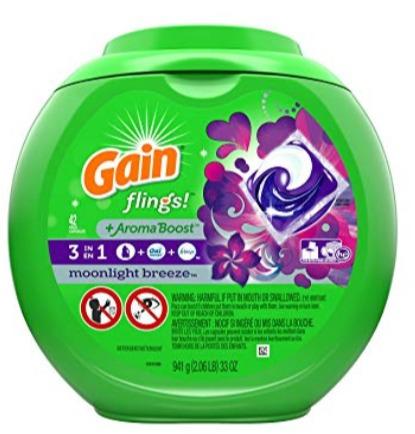 Gain Flings 速溶果冻洗衣球 42只 8.53加元,原价 12.99加元