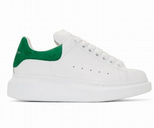 Alexander McQueen SSENSE 独家绿尾小白鞋 481加元,原价 650加元,包邮