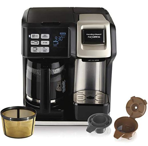 Hamilton-Beach 49950C Flexbrew 12杯量 二合一可编程咖啡机 99.99加元包邮!