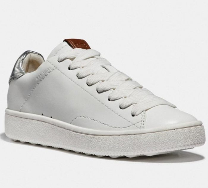 Coach C101 女士小白鞋 112.5加元,原价 225加元,包邮