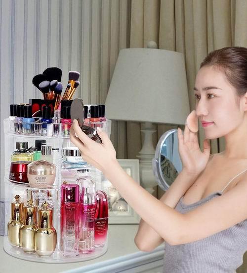 COOLBEAR 360度旋转 化妆品收纳盒 29.74加元!