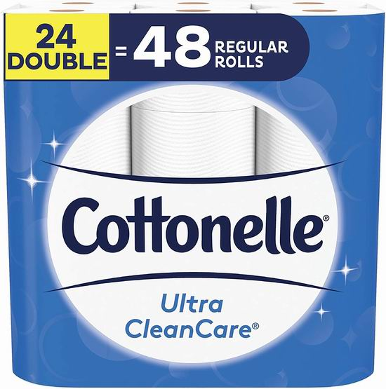 Cottonelle Ultra Cleancare 24卷双层超强卫生纸 18.99加元!