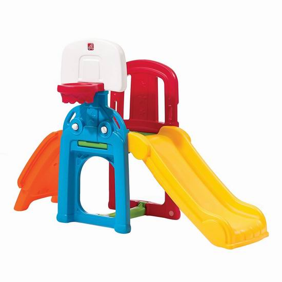 Step2 Game Time 儿童篮球架+足球门+滑梯套装4.8折 104.97加元包邮!
