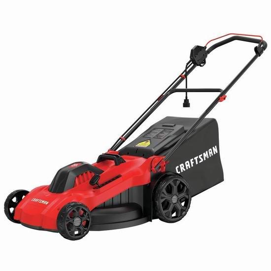 Craftsman CMEMW213 20英寸 13安培 三合一电动割草机 239加元包邮!