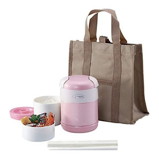 历史新低!Tiger 虎牌 1.5杯量 粉红色 午餐保温饭盒套装4.7折 31.58加元!