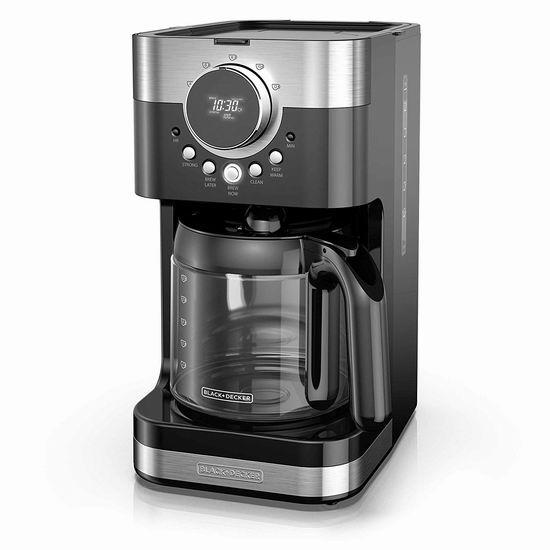历史最低价!BLACK+DECKER CM4200SC 12杯量 可编程咖啡机 39加元包邮!