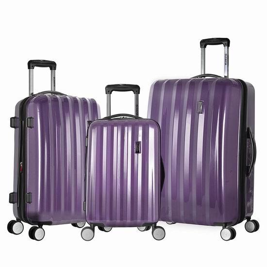 白菜价!历史新低!Olympia Titan 21/25/29英寸 全PC超轻硬壳拉杆行李箱3件套2.1折 121.76加元包邮!