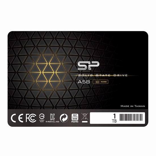 Silicon Power 3D NAND A58 SLC 1TB SSD 固态硬盘 129.99加元包邮!