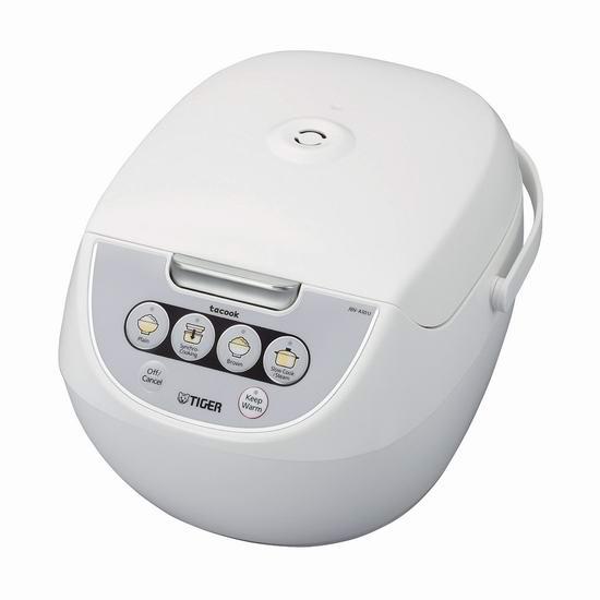 手慢无!Tiger 虎牌 JBV-A18U-W 10杯量 四合一多功能Micom电饭煲 80加元清仓并包邮!