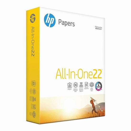 历史新低!HP 惠普 All in One 高质量打印复印多用途纸(500张)4.3折 4.97加元!