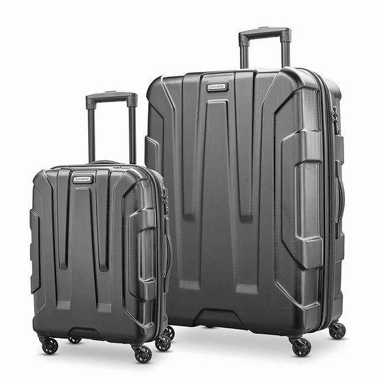 手慢无!新款 Samsonite 新秀丽 Centric HS 全PC 20+28寸 时尚硬壳拉杆行李箱2件套2.2折 152.41加元包邮!