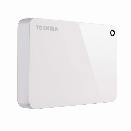 历史新低!Toshiba 东芝 Canvio Advance 4TB 超便携移动硬盘 8折 127.73加元包邮!