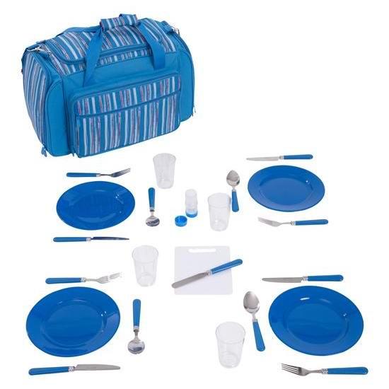 超级白菜!Mountain Warehouse 家庭野餐保温包+餐具24件套1.5折 13.49加元包邮!