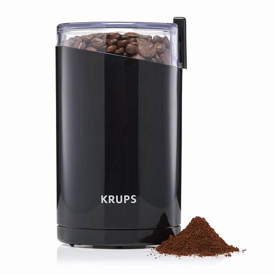 Krups Fast Touch 咖啡豆/香料研磨机6.7折 19.97加元!