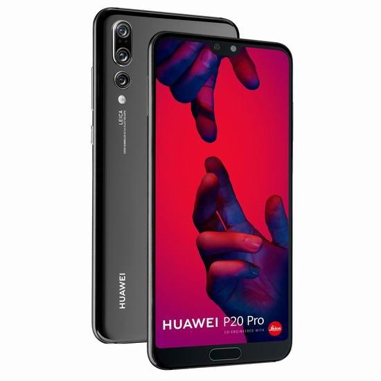 HUAWEI 华为 P20 Pro 4000万徕卡三摄 6.1寸全面屏 智能手机4.7折 534.15加元包邮!