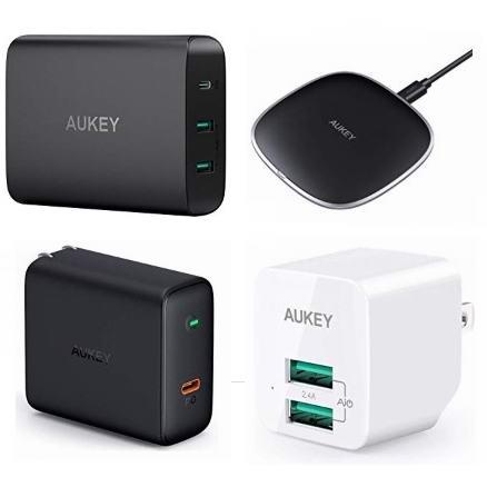 金盒头条:精选多款 Aukey USB充电器、无线充电板11.24加元起!