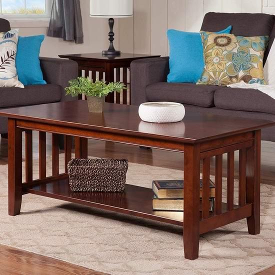 白菜价!历史新低!Atlantic Furniture AH15204 Mission 实木茶几2.4折 105.07加元包邮!