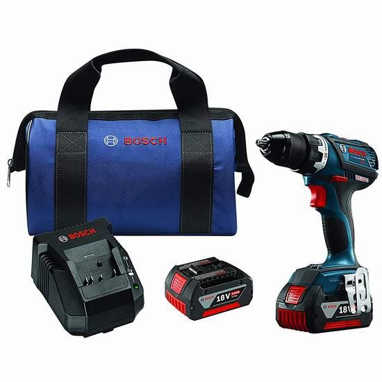 手慢无!历史新低!Bosch 博世 DDS183-01 18伏 无线充电 无刷起子/电钻+双锂电套装 164.99加元包邮!