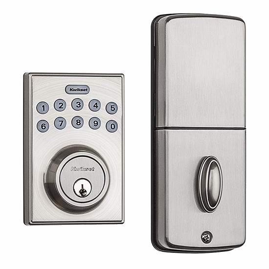 Kwikset 92640-001 电子密码门锁 63.11加元包邮!