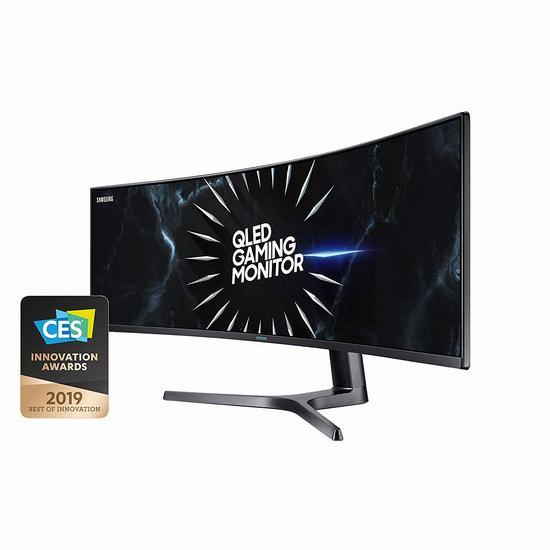 历史新低!Samsung 三星 QLED LC49RG90SSNXZA 49英寸 超长带鱼屏 游戏显示器5.5折 1099.99加元包邮!