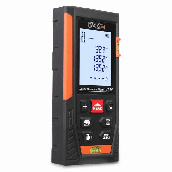Tacklife HD40 131英尺 专业激光测距仪 31.97加元限量特卖并包邮!
