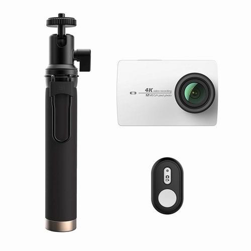 Xiaoyi 小蚁 Yi 4K 超高清运动相机+蓝牙遥控+自拍杆套装5折 139.99加元包邮!