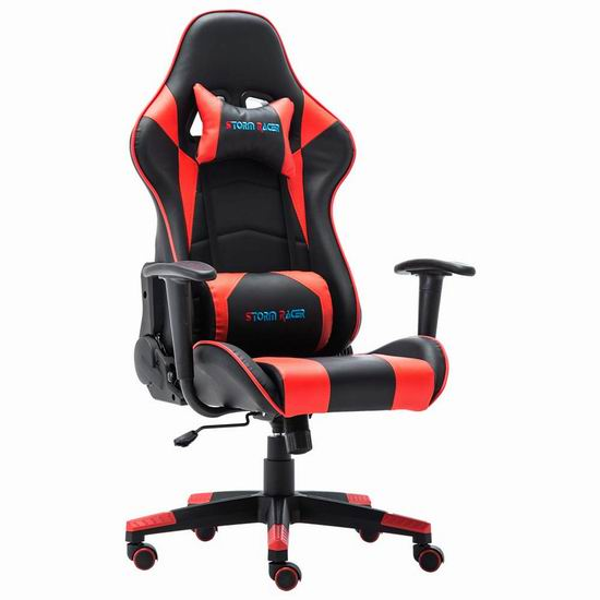 Storm Racer 人体工学 高靠背赛车办公椅/游戏椅 144.49-152.99加元限量特卖并包邮!4色可选!
