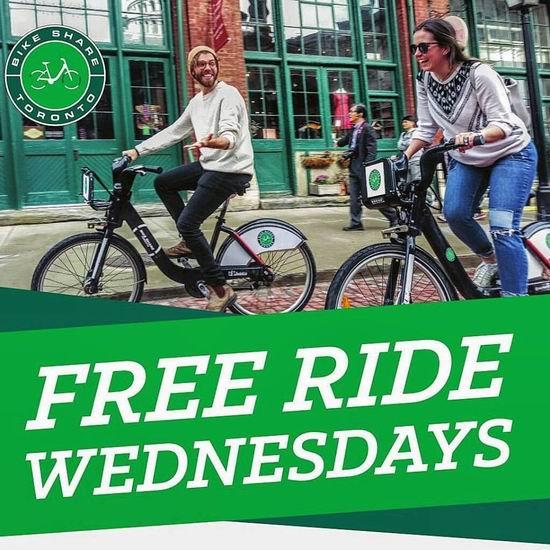 多伦多 Bike share 共享单车8月份每周三免费享受30分钟骑行!可重复免费续30分钟!