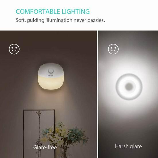 Newild 可充电 运动感应 暖白护眼LED夜灯2件套 22.09加元限量特卖!