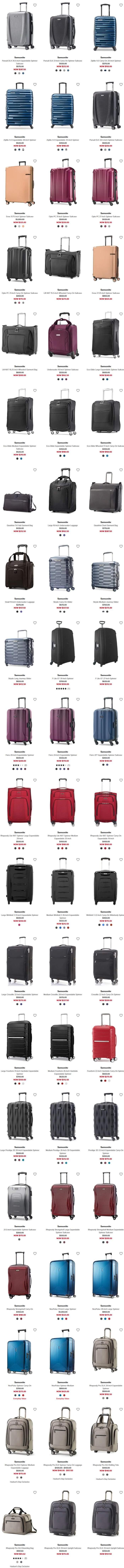 精选 Samsonite 新秀丽 时尚拉杆行李箱3.5折起+额外8.5折或满省20加元!