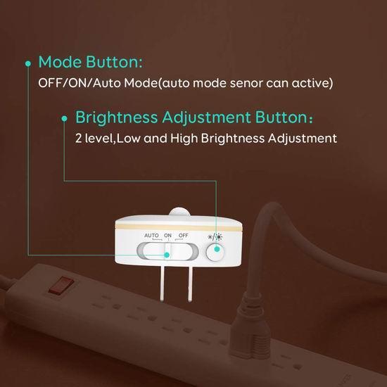 Newild 运动感应 暖白护眼LED夜灯6件套 33.99加元限量特卖并包邮!